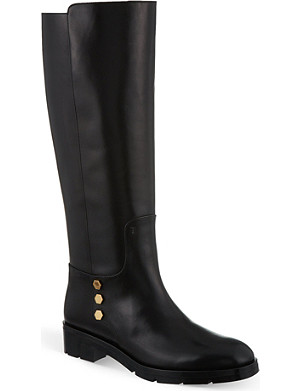 TODS Studded leather biker boots