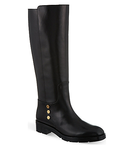 TODS Gomma leather knee high boots (Black