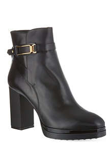 TODS Gomma leather heeled ankle boots