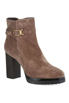 TODS Gomma suede heeled ankle boots