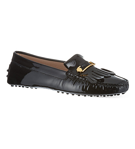 TODS Gommino heaven loafers in patent leather (Black