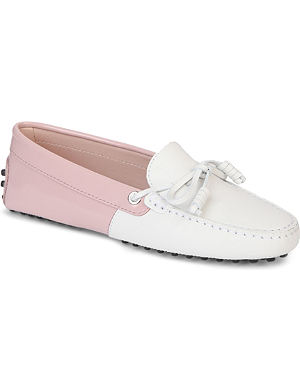 TODS Heaven Gommino patent leather driving shoes