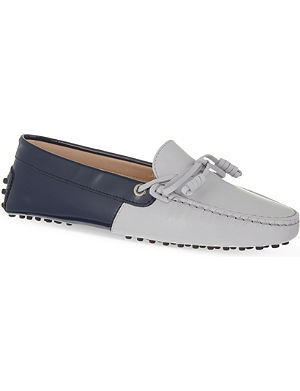TODS Contrasting leather driving shoes