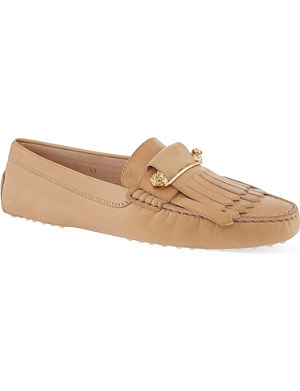 TODS Fringed leather loafers