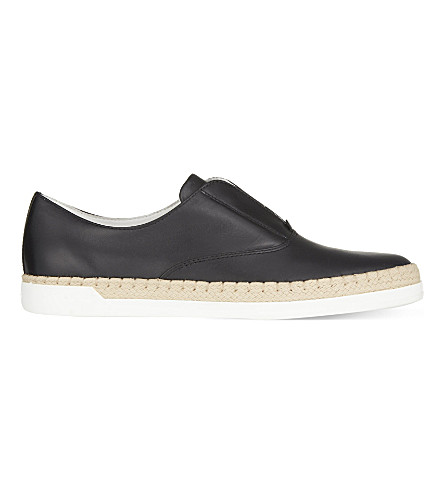 TODS Gomrafia leather loafers (Black