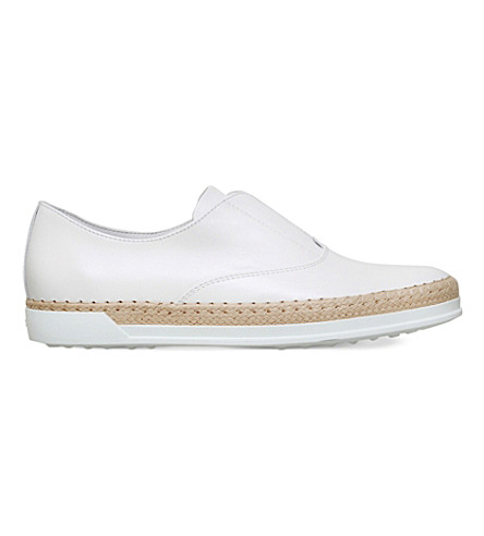 TODS Gomrafia leather shoes (White