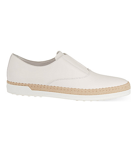 TODS Gomrafia leather loafers (White