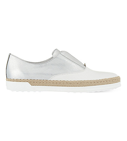 TODS Gomrafia leather loafers (White/oth