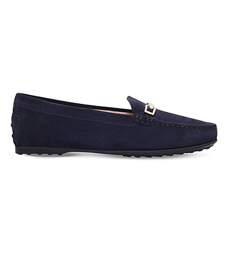 TODS Clamp suede loafers (Navy