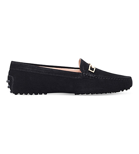 TODS Gommino clamp suede driving shoes