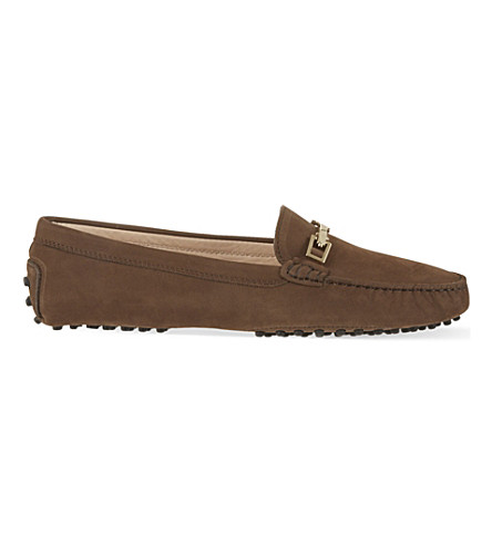 TODS Clamp leather loafers (Brown