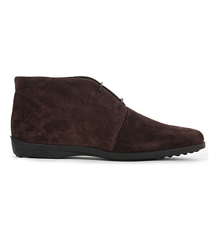 TODS Polacco suede desert boots (Dark+brown