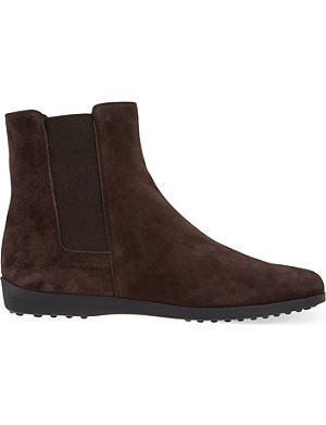 TODS Suede Chelsea boots