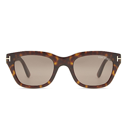 TOM FORD Tf0237 Snowdon tortoiseshell square-frame sunglasses (Tortoise+brown