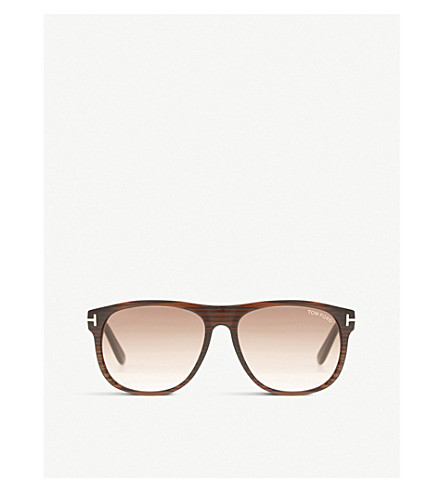 TOM FORD Tf0236 Olivier square-frame sunglasses (Brown