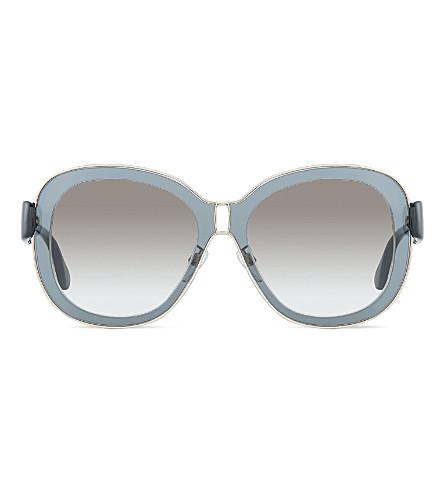 BALENCIAGA Ba301 square sunglasses (Black shiny