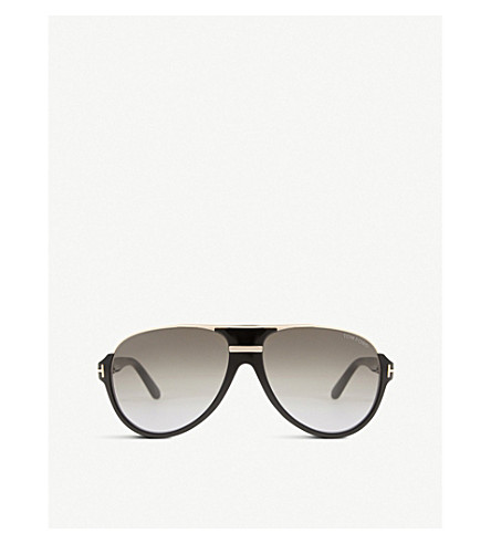 TOM FORD Dimitry Tf334 aviator sunglasses (Black+grey