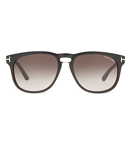 TOM FORD Franklin Tf346 square-frame sunglasses (Black+brown