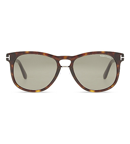TOM FORD Franklin Tf346 square-frame sunglasses (Tortoise+brown