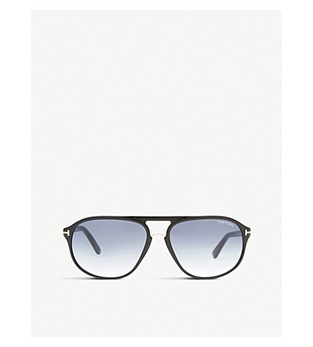 TOM FORD FT0447 Jacob aviator sunglasses (Black+shiny