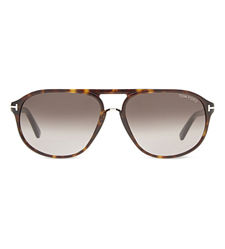 TOM FORD FT0447 Jacob tortoiseshell aviator sunglasses (Brown+yellow