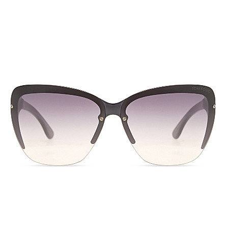 TOM FORD Poppy TF457 butterfly-frame sunglasses (Grey