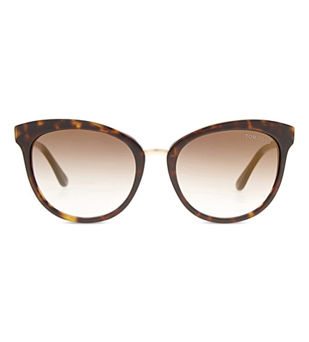 TOM FORD Ft0461 Emma tortoiseshell cat-eye frame sunglasses (Tortoise