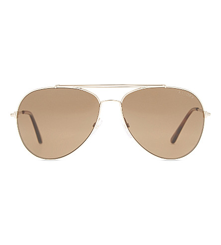 TOM FORD Ft0497 Indiana aviator sunglasses (Pink+gold