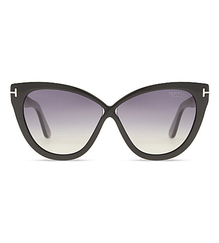 TOM FORD Arabella TF511 cat-eye sunglasses (Black+shiny