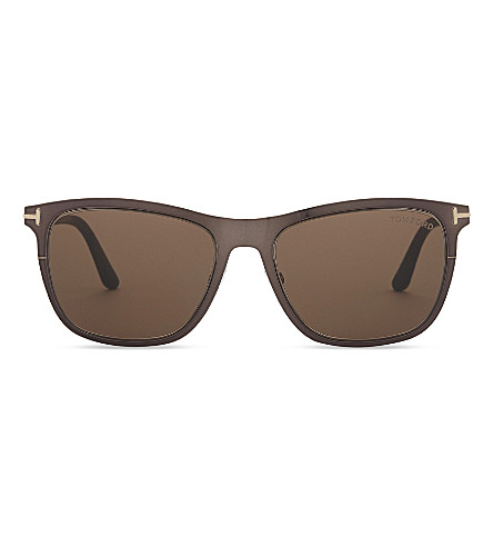 TOM FORD Alasdhair Tf526 square-frame sunglasses (Brown