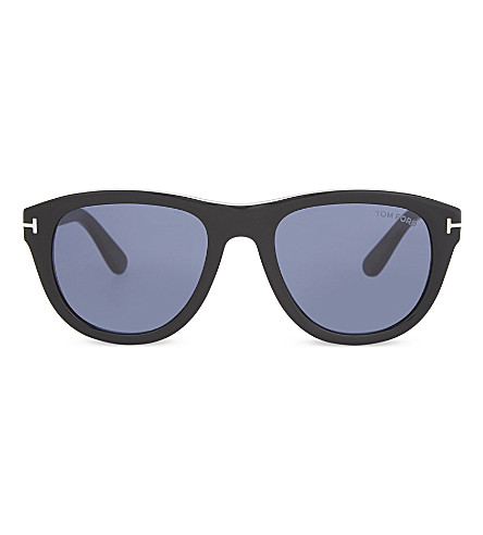 TOM FORD Benedict square sunglasses (Black