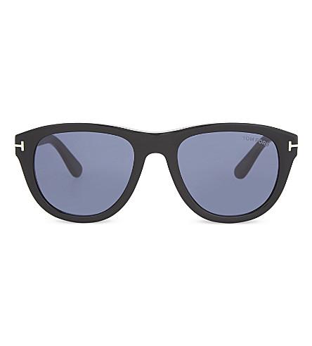 TOM FORD Benedict square sunglasses (Black