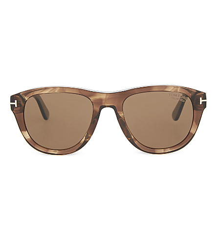 TOM FORD Benedict square sunglasses (Brown