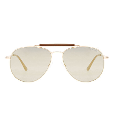 TOM FORD Sean Tf536 aviator sunglasses (Pink+gold