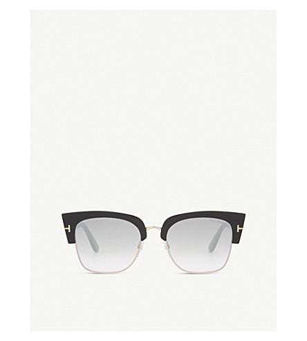 TOM FORD Dakota half-frame sunglasses (Black+shiny