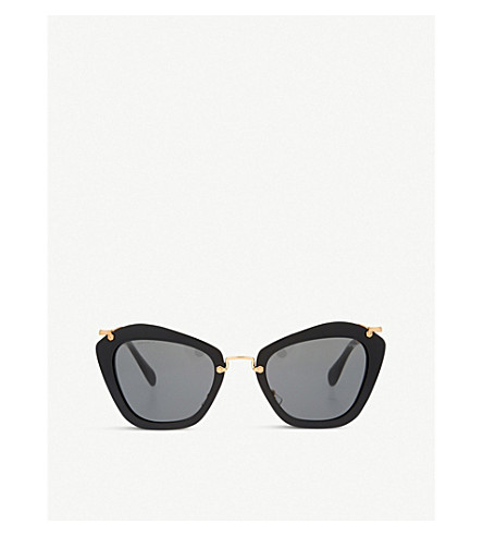 MIU MIU MU10NS Noir cat-eye sunglasses (Black