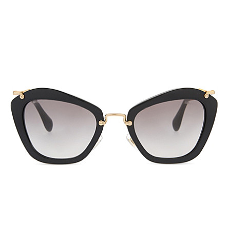 MIU MIU MU10NS Noir cat eye-frame sunglasses (Black