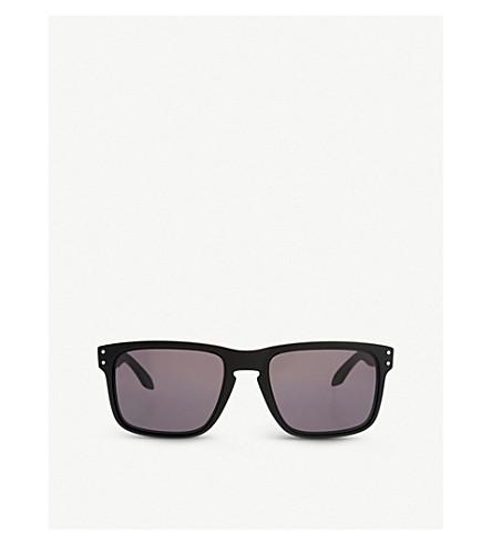 OAKLEY 霍尔布鲁克 oo9102-01 方形框架太阳镜 (哑光 + 黑色