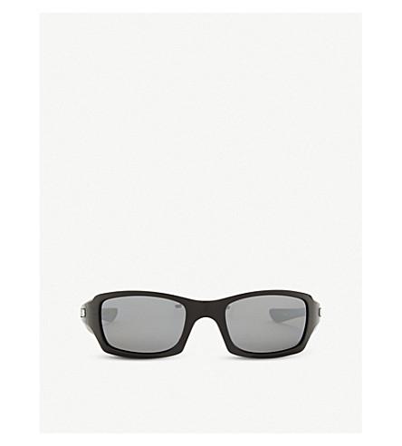 OAKLEY OO9238 矩形框架太阳镜 (抛光 + 黑色