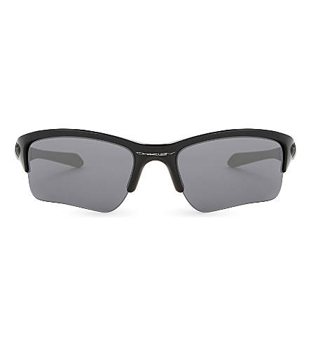 OAKLEY Quarter Jacket wrap sunglasses (Polished+black