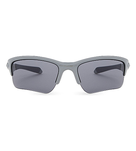 OAKLEY Quarter Jacket wrap sunglasses (Polished+fog