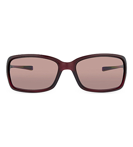 OAKLEY OO9233 Raspberry irregular sunglasses (Raspberry
