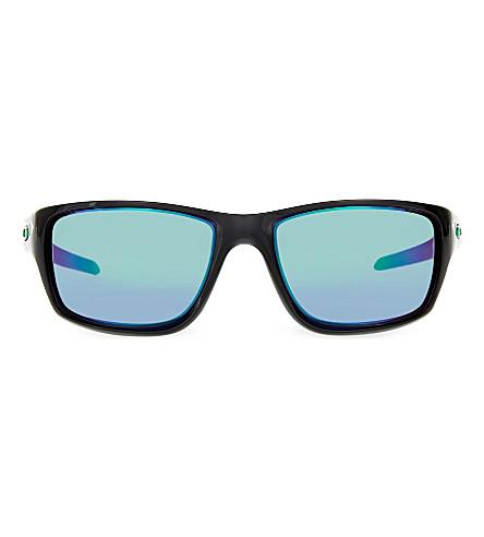 dc0d1a5e50 OAKLEY OO9225 canteen rectangle sunglasses (Black+ink
