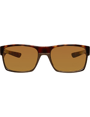 OAKLEY Polarized Twoface polished brown sunglasses