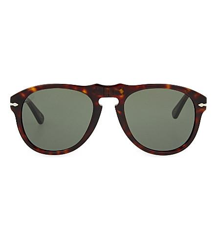 PERSOL Havana aviator sunglasses (Havana