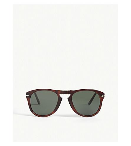 PERSOL Po2431 tortoiseshell square-frame sunglasses (Havana