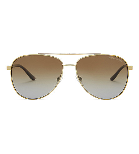 MICHAEL KORS Mk5008 aviator sunglasses (Gold+tortoise