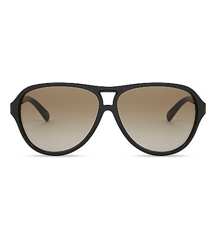 MICHAEL KORS MK6008 Wainscott 300913 tortoiseshell Aviator sunglasses (Black dk tortoise