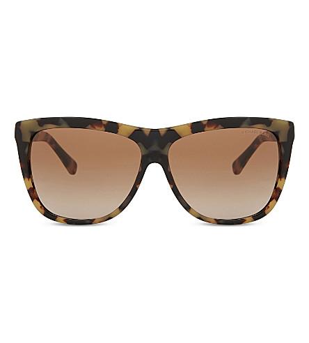 MICHAEL KORS MK6010 Benidorm 301313 vintage tortoiseshell square-frame sunglasses (Vintage+tortoise