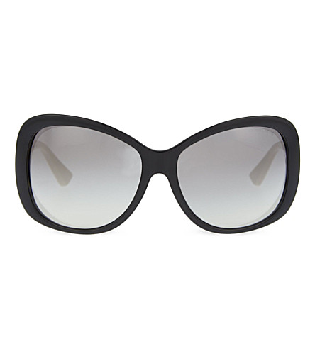 MICHAEL KORS Butterfly cat-eye sunglasses (Black+off+white